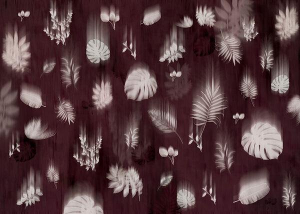 Fototapety Vestmanna fioletowo-czerwony   fototapeta kwiaty