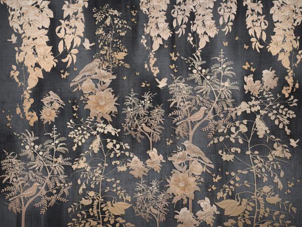 Fototapety Nobiliaire czarne odcienie | fototapeta kwiaty
