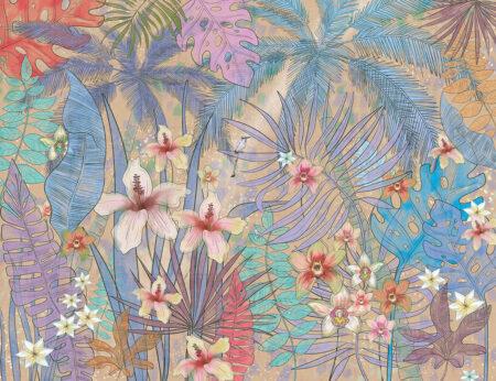 Fototapety Botanique brązowe odcienie | fototapeta kwiaty