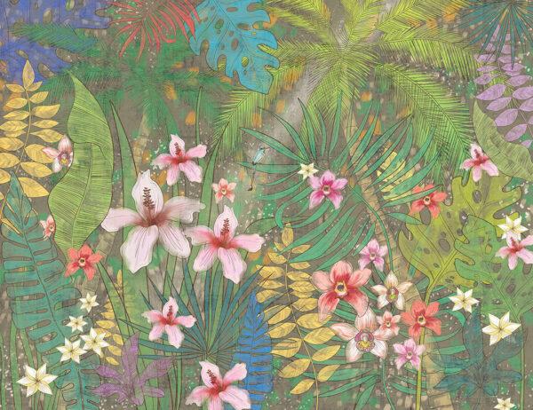 Fototapety Botanique zielone odcienie | fototapeta kwiaty