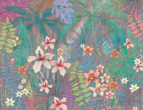Fototapety Botanique różowe odcienie | fototapeta kwiaty