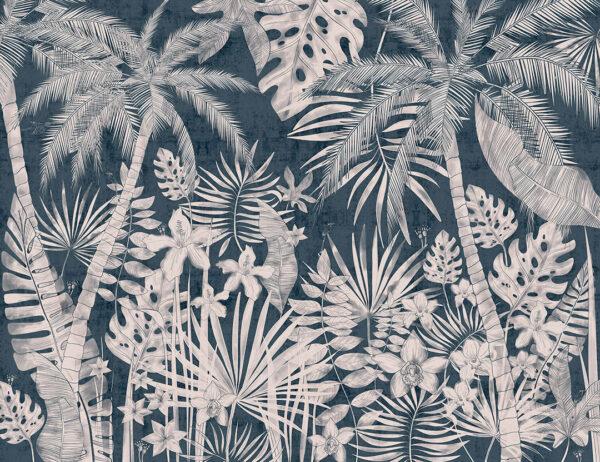 Fototapety Balnéaire niebieskie odcienie | fototapeta kwiaty