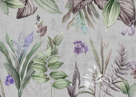 Fototapety Modéré jasnoszary przykład | fototapeta kwiaty