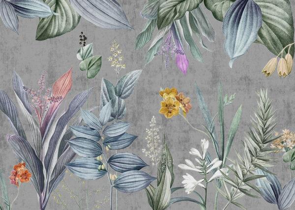 Fototapety Modéré ciemnoszary przykład   fototapeta kwiaty