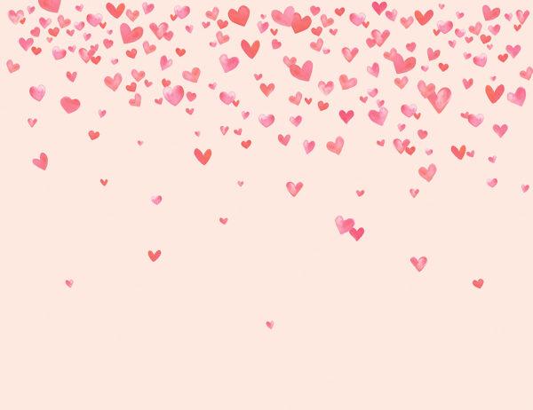 Fototapety L'amour różowe tło | fototapeta dla dziewczynki