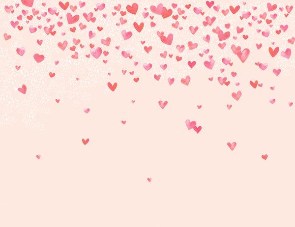 Fototapety L'amour różowe tło z sercami | fototapeta dla dziewczynki