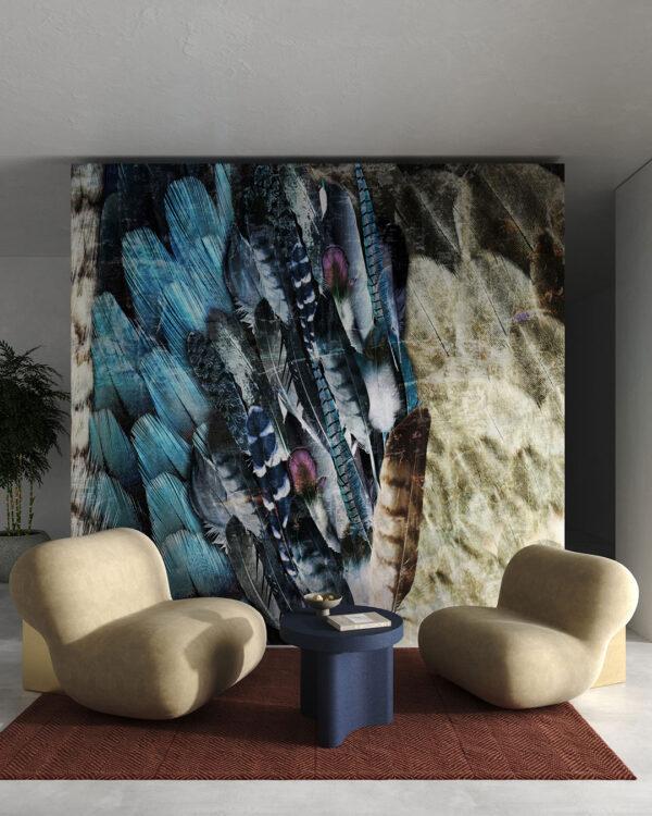 Fototapety Plumes | tapety 3d do salonu