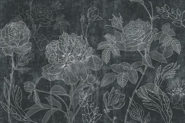 Fototapeta Kwiaty Couleur zielone odcienie | fototapeta kwiaty