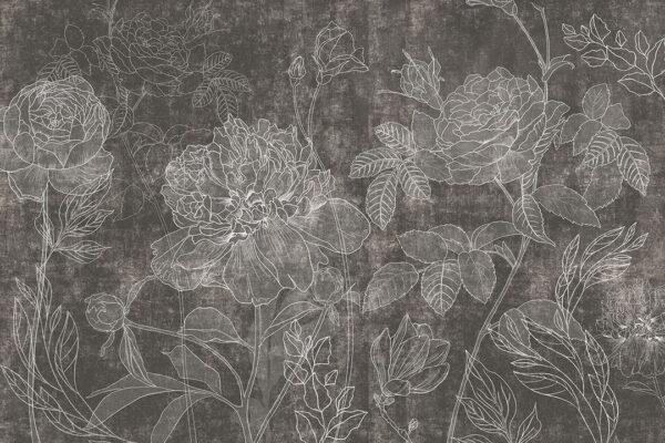 Fototapety Couleur czarne odcienie | fototapeta kwiaty
