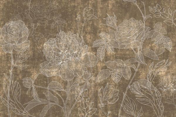 Fototapety Couleur brązowe odcienie | fototapeta kwiaty