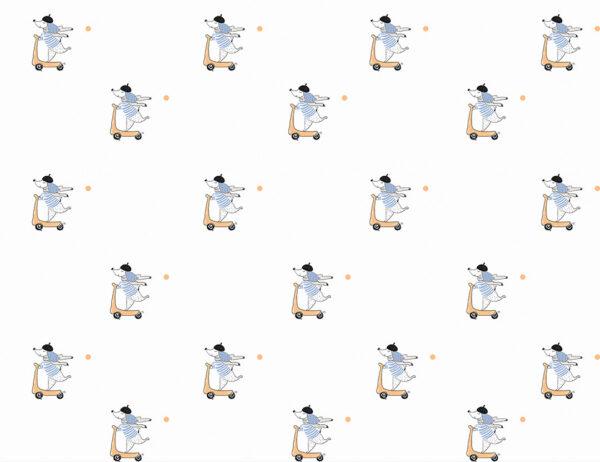 Fototapety Chien białe odcienie   fototapeta dla dzieci