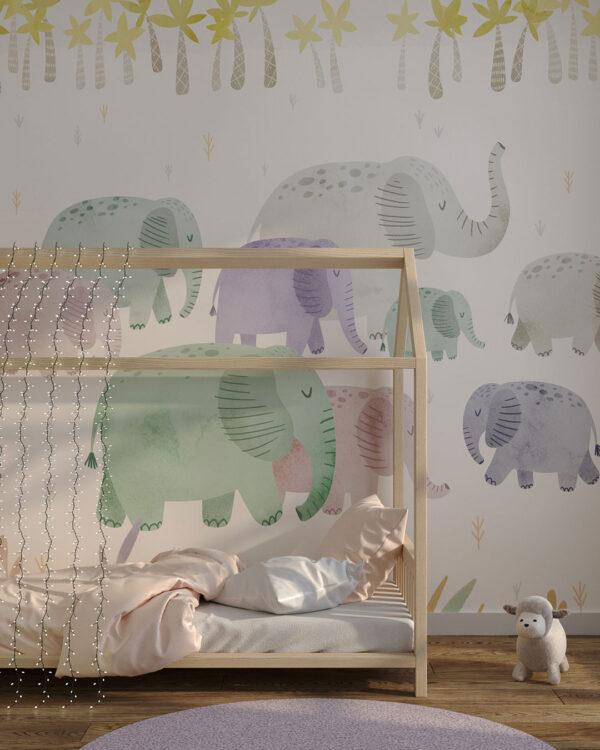 Fototapety L'éléphant | tapeta do pokoju dziecka