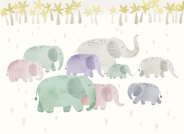Fototapety Zwierzęta L'éléphant białe tło | tapety 3d