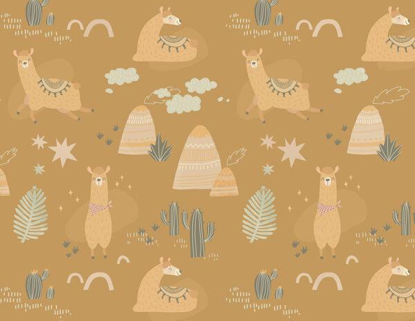 Fototapety Prairie pomarańczowe odcienie | fototapeta zwierzęta leśne
