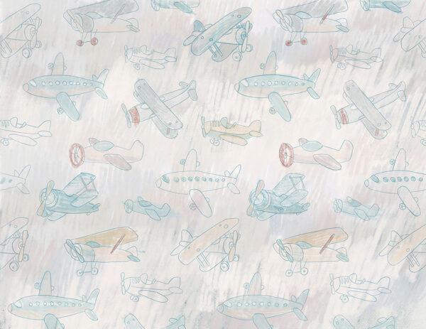 Fototapety Aéronef niebieskie odcienie   fototapeta dla dzieci
