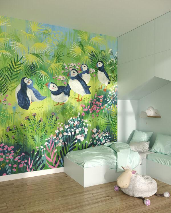 Fototapety Des oiseaux | tapeta do pokoju dziecka