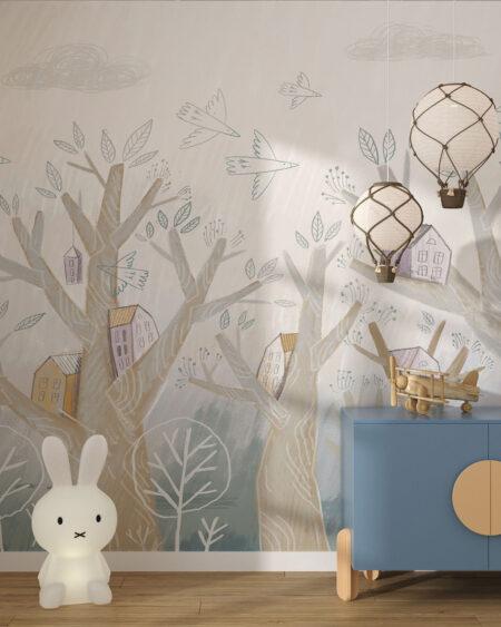 Fototapety Petites maisons | tapeta do pokoju dziecka