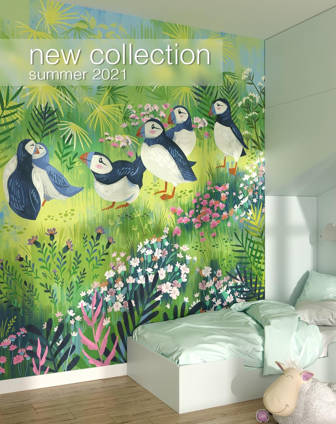 new piękna designerska collection fototapet summer 2021 kith2kin