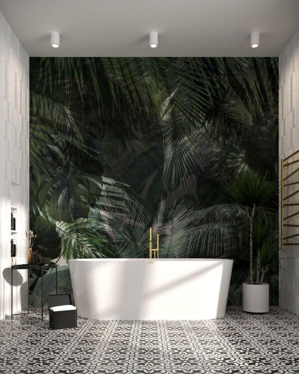 Fototapeta Gęsta dżungla | tapeta 3d do łazienki