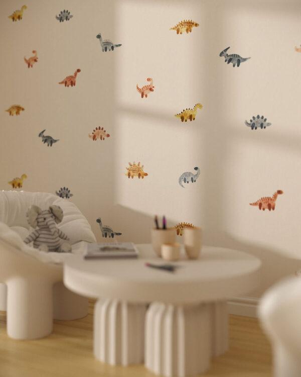 Fototapeta Małe Dinozaury | tapeta do pokoju dziecka