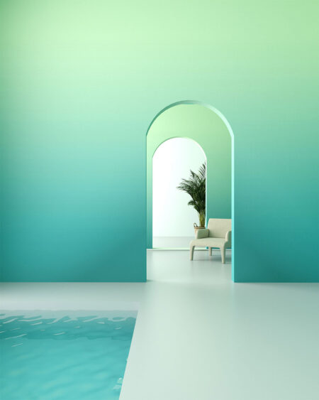 Fototapeta Turquoise | Fototapety Geometria