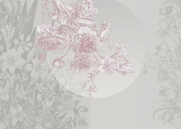 Fototapeta kwiaty Brązowe odcienie z kółkiem pośrodku