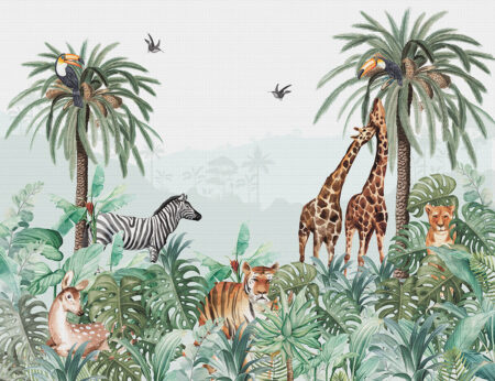 Fototapeta Tongass zielone odcienie | Fototapety zwierzęta afrykańskie
